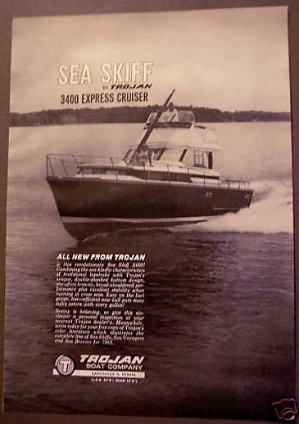 Sea Skiff 3400 Express Cruiser By Trojan Boat (1964)