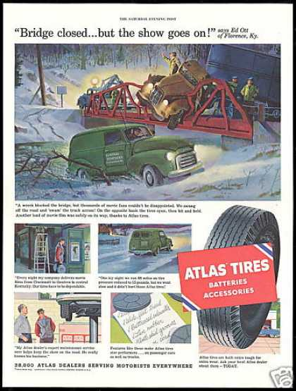 Florence Kentucky Robert Moore Art Atlas Tires (1954)