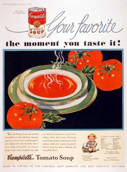 Campbell's Tomato Soup #2 (1933)