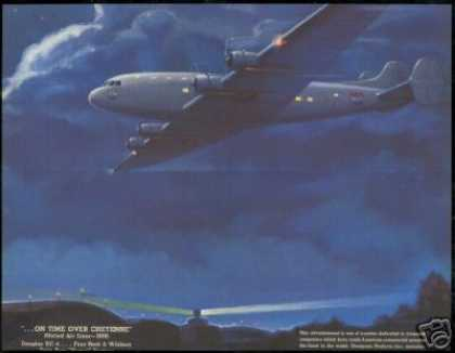 United Airlines Douglas DC4 DC-4 Thompson Art (1938)