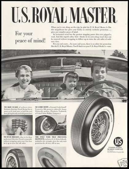 US Royal Master Car Tires Convertible Photo (1954)
