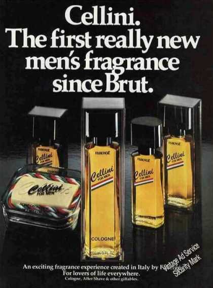 "Cellini ""The First Really New Men's Fragrance"" (1980)"