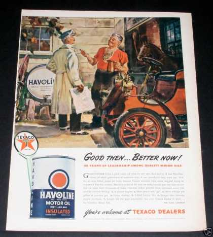 Old , Texaco Havoline, Antique Car (1944)
