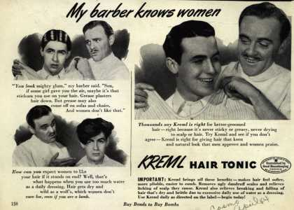 Kreml's hair tonic – My barber knows women (1944)