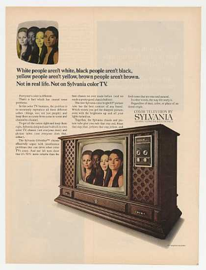 Sylvania Gibraltar TV Television People Color (1969)