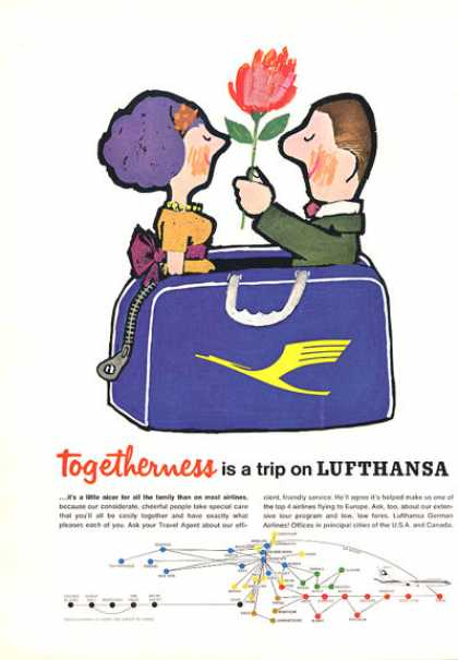 Lufthansa Airline Togetherness (1964)