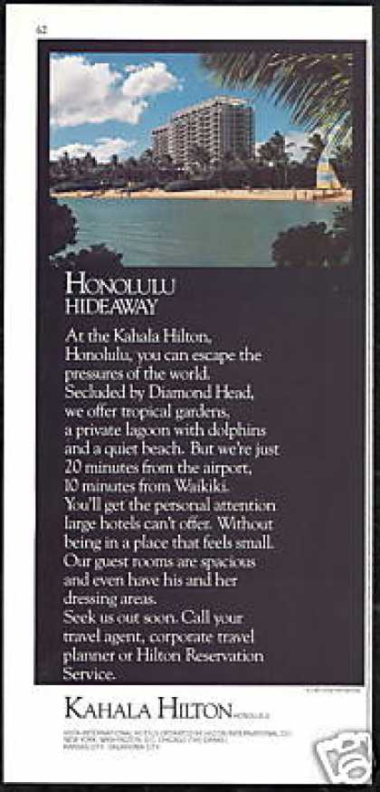 Hawaii Kahala Hilton Hotel Honolulu (1985)