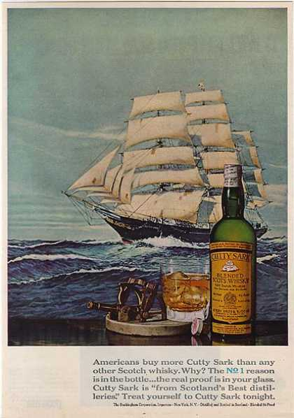 Cutty Sark's Blended Scot's Whiskey (1968)