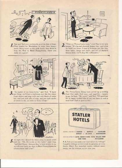 Statler Hotels Cartoon (1948)