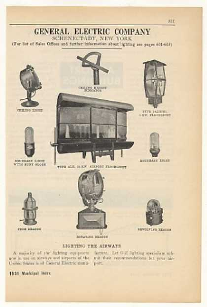 GE General Electric Airport Lighting Equipment (1931)