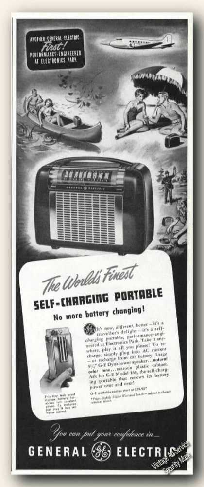 Self-charging Portable Radio General Electric (1949)