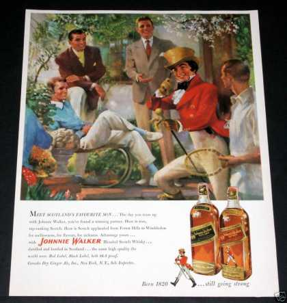 Johnnie Walker, Tennis, Art (1951)