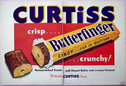 Curtiss Butterfinger Candy Bar Crunchy (1948)