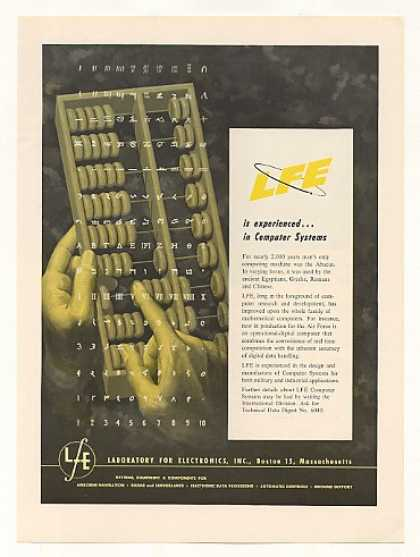 Laboratory for Electronics LFE Computer Abacus (1960)