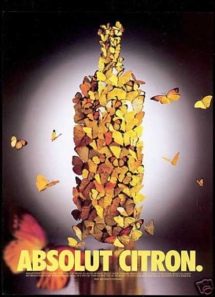 Absolut Citron Vodka Butterflies Butterfly (2000)