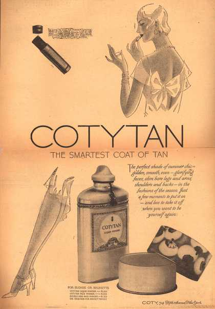 Coty – CotyTan The Smartest Coat Of Tan (1929)