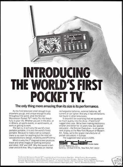 Sinclair World&#8217;s 1st Pocket TV Television (1978)