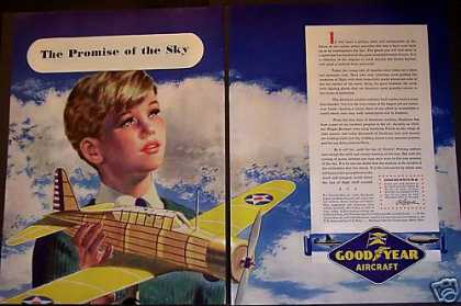 Goodyear Air Planes Little Boy Wwii (1942)
