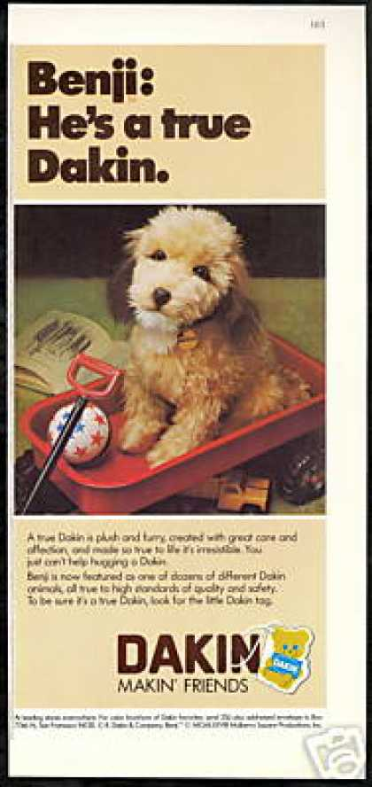 Dakin Benji Plush Photo Wagon (1979)