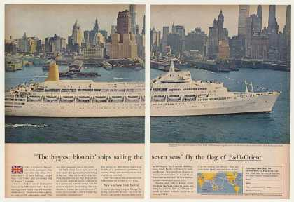 P&O Orient Canberra Ship New York Photo (1964)