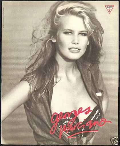 Claudia Schiffer Photo Guess Fashion (1989)