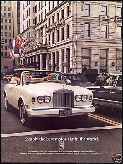 Rolls Royce Convertible Best Motor Car (1986)