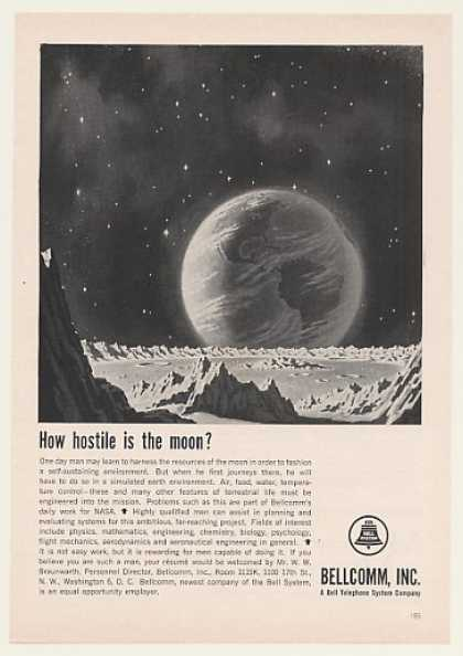 Bellcomm Jobs How Hostile is the Moon (1963)