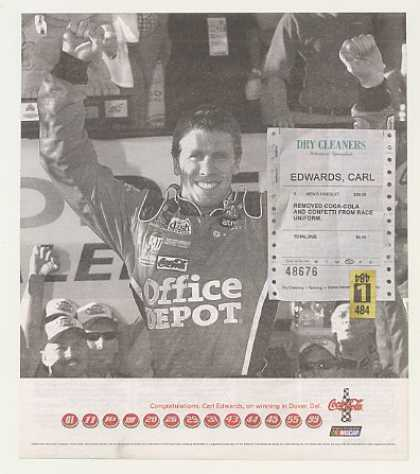 NASCAR Carl Edwards Dover DE Win Coke Coca-Cola (2007)