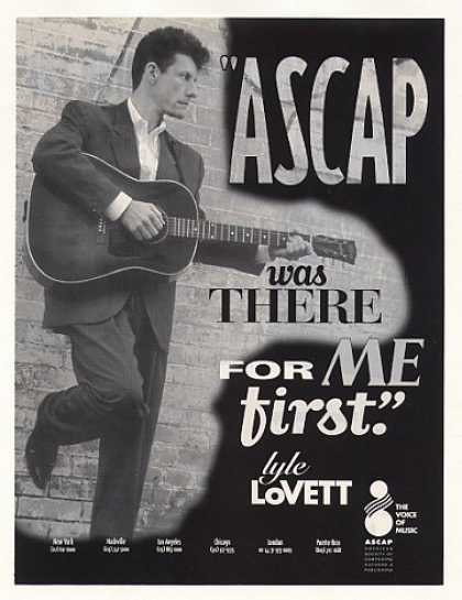 Lyle Lovett ASCAP Photo (1993)