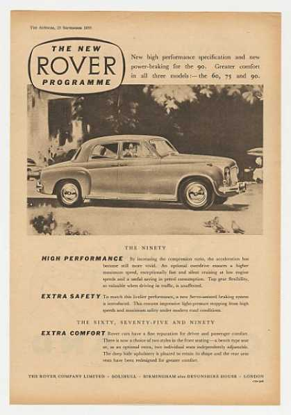 Rover Ninety 90 Car British (1955)