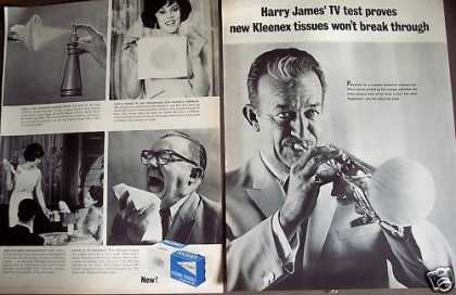 Harry James Plays Trumpet Kleenex Tissue (1963)