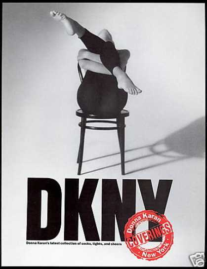 DKNY Donna Karan Leg Tights Fashion (1990)