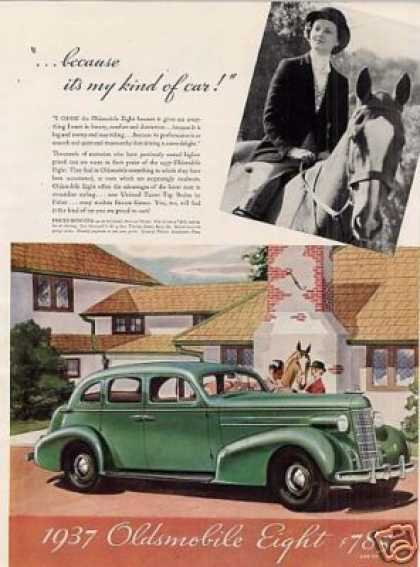 Oldsmobile Eight Car Color (1937)