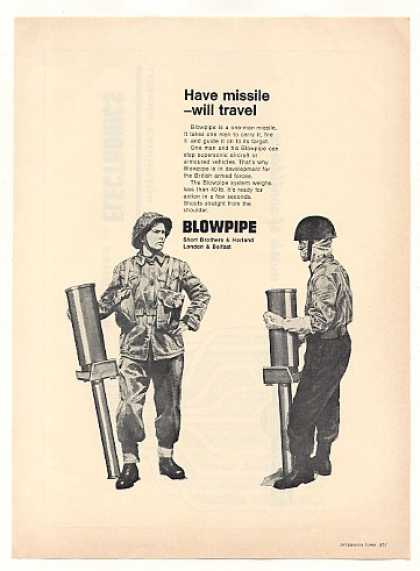 Short Brothers & Harland Blowpipe Missile (1968)