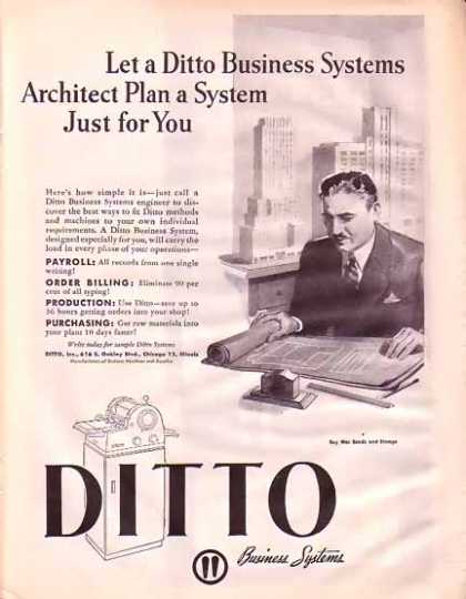 Ditto Business Systems Wartime – Architect Plan (1945)