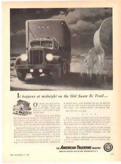 American Trucking Company – The Old Santa Fe Trail – Sold (1948)