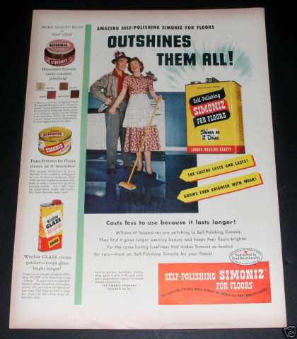 Simoniz Wax Floor Products, Exc (1949)