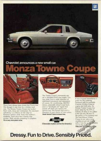 Chevrolet Monza Towne Coupe Collectible Car (1975)