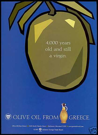 Olive Oil Greece 4000 Yr Old Virgin Print Hepo (1997)