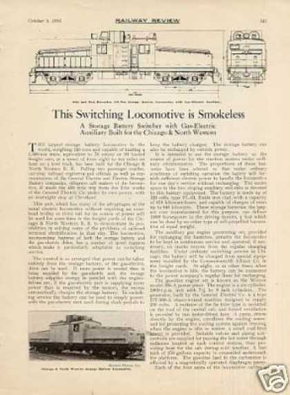 """Switching Locomotive Is Smokeless""Artic (1926)"