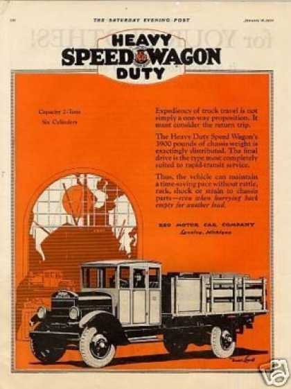 Reo Speedwagon Truck Color (1926)