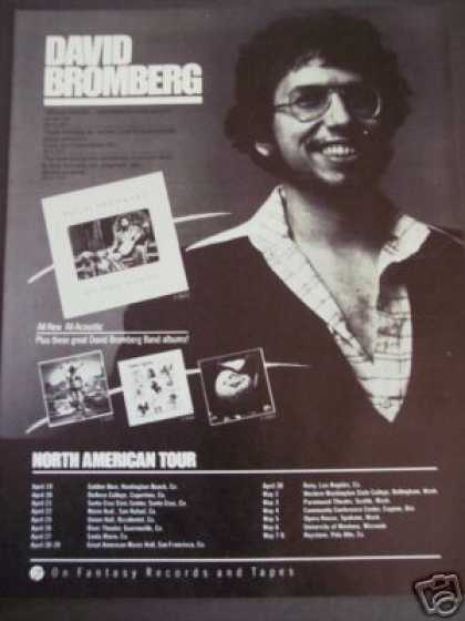 David Bromberg Photo North American Tour Promo (1979)