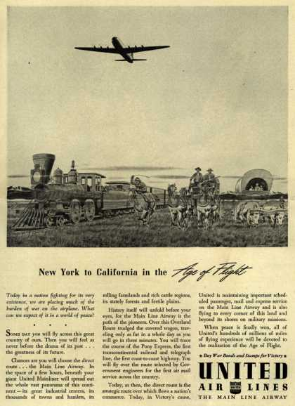 United Air Line's Air Travel – New York to California in the Age of Flight (1943)