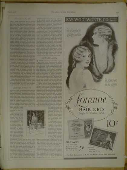 Lorraine hair nets. FW Woolworth Co (1926)