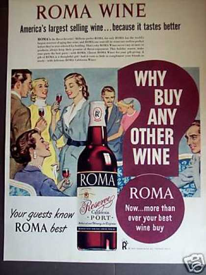 Roma California Port Wine Art (1951)