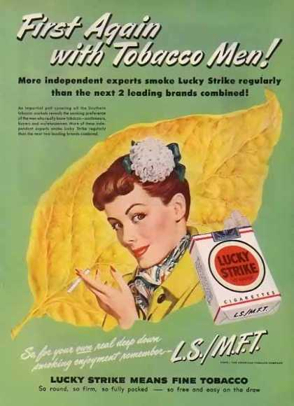 Lucky Strike Cigarettes – Tobacco Men! Green (1948)