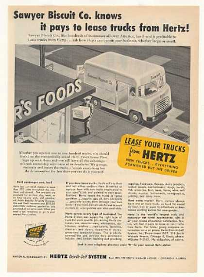 Sawyer Biscuit Co Hertz Truck Lease (1953)