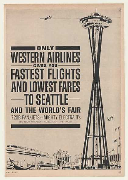 Western Airlines Seattle World's Fair Needle (1962)