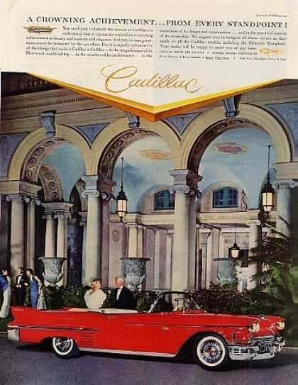 "Cadillac Convertible Car Ad ""A Crowning... (1958)"