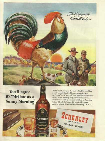 Schenley Reserve Whiskey Rooster (1945)